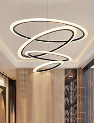 cheap -LED Ceiling Pendant Lights Circle Design Lamp Modern for Dining Room Living Acrylic Circle Ring Chandelier Light Bedroom Kitchen Interior Lighting 110-240V