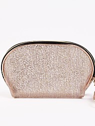 cheap -Women's Bags PVC Plastic Cosmetic Bag Lace Zipper Solid Colored Daily 2021 Handbags White Light Gold Coffee