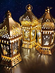 cheap -Ramadan Festival Lantern Lamp Night Light Creative Holiday Home Decoration AAA Batteries Operated