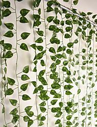 cheap -12Pcs 220cm Artificial Plants Vine Wall Decor  Wedding Party Decorative Artificial Leaves