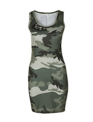 cheap -Women's Tank Dress Classic Style U Neck Camouflage Sport Athleisure Dress Sleeveless Breathable Soft Comfortable Everyday Use Casual Daily Outdoor