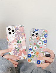 cheap -Floral Case For Apple iPhone 12 11 SE2020 Shockproof Protective Case TPU Back Cover for iPhone 12 Pro Max XR XS Max iPhone 8 7