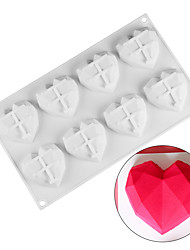 cheap -DIY Mold Baking Pastry Tools 8 Holes Cavity Mini Heart Shape Chocolate Mousse 3D Silicon Cake Mold