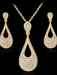 cheap -Women's Cubic Zirconia Jewelry Set Geometrical Flower Stylish Earrings Jewelry Gold For Anniversary Party Evening Prom Festival 1 set