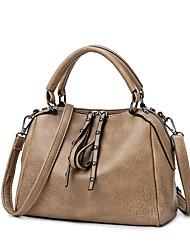 cheap -Women's Bags Top Handle Bag Date Office & Career Handbags MessengerBag Black Red Khaki Brown
