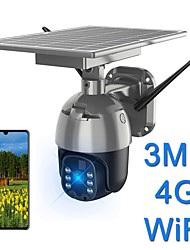 cheap -Solar wifi camera 2mp 1536p 1080p waterproof ptz camera outdoor 4g 3g lte wireless remote control color night vision