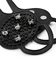 cheap -Traction Cleats Crampons Antiskid Portable Rubber Metal Hiking Climbing Camping / Hiking / Caving 2 pcs Black