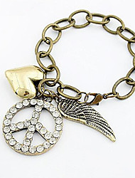 cheap -Women's Vintage Bracelet Pendant Bracelet 3D Fashion Vintage Theme Vintage Rhinestone Bracelet Jewelry Bronze For Christmas Halloween Party Evening Gift Festival