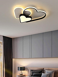 cheap -55 cm Geometric Shapes Flush Mount Lights Metal Acrylic Artistic Style Heart Stylish Painted Finishes Contemporary LED 220-240V / CE Certified