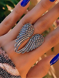 cheap -Ring Retro Silver Alloy Wings Punk 1pc Adjustable