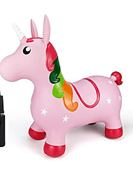 cheap -Pink Unicorn Hopper, Horse Hopper, Bouncy Inflatable Animal Ride-on Toy for Children, Boys and Girls, Toddlers