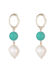 cheap -Women's Earrings Tassel Fringe Stylish European Sweet Imitation Pearl Earrings Jewelry Gold For Wedding Party Evening Street Birthday Festival