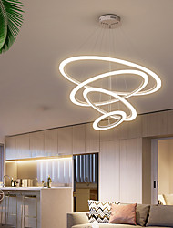 cheap -LED Modern Circle Pendant Lights For Living Room Dining Room Circle Rings chandelier Acrylic LED Ceiling Hanging Lights Suspension Lamp Fixtures 110-240V
