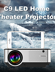cheap -Cheerlux C9 LED Projector WIFI Projector Keystone Correction 1080P (1920x1080) 2800 lm Compatible with TV Stick