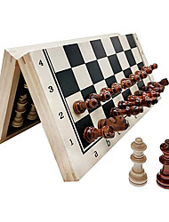 cheap -Chess Set Folding Wooden Set with Magnetic Chess Set with Storage Slot Includes 2 Extra Queens Perfect Choice for Children and Adult Travel Chess Sets Birthday for Rewards Beginners