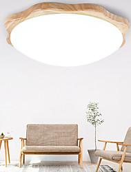 cheap -35 cm Dimmable Flush Mount Lights Wood / Bamboo Acrylic Painted Finishes LED Nordic Style 110-120V 220-240V
