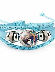 cheap -demon slayer bracelet costpaly kamado tanjirou bracelet wristband braided bracelet the favorite bracelet of young animation fans (1)