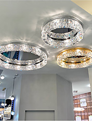 cheap -50/60/80 cm LED Crystal Ceiling Light Circle Design Unique Design Flush Mount Lights Stainless Steel LED Nordic Style 110-120V 220-240V