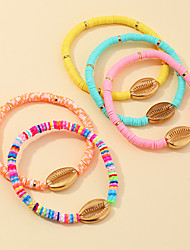 cheap -Women's Bead Bracelet Bracelet Beads Heart Stylish Sweet Boho Alloy Bracelet Jewelry Rainbow For Date Beach