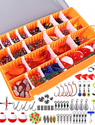 cheap -263 pcs Fishing Hooks Fishing Snaps & Swivels Fishing Beads Fishing Accessories Set Metal ABS Easy to Carry Easy to Use Sea Fishing Other