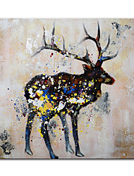 cheap -Mintura Large Size Hand Painted Abstract Deer Animal Oil Painting on Canvas Modern Pop Art Wall Pictures For Home Decoration (Rolled Canvas without Frame)
