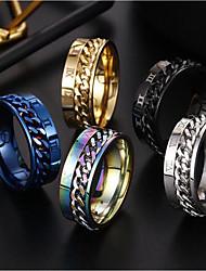 cheap -Band Ring 3D Silver Gold Rainbow Alloy European 7 8 9 10 12 / Men's