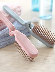 cheap -Portable Comb Portable Makeup Comb Hairdressing Comb Household Long Hair Anti-static Massage Compact Tooth Comb