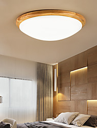 cheap -35 cm Dimmable Flush Mount Lights Wood / Bamboo Painted Finishes LED Nordic Style 110-120V 220-240V / CE Certified