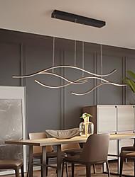 cheap -100/120 cm LED Pendant Light Wave Design Black Gold Chandelier Metal Artistic Style Modern Style Stylish Painted Finishes Artistic LED 110-120V 220-240V