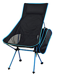 cheap -Camping Chair High Back with Headrest Portable Ultra Light (UL) Multifunctional Foldable Oxford 7075 Aluminium Alloy for 1 person Fishing Beach Camping Autumn / Fall Winter Red Blue Orange Sky Blue