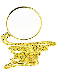cheap -Magnifier Magnifying Glass Set Necklace Mini 5 Reading Inspection Macular Degeneration Metal Kid's Adults' Seniors