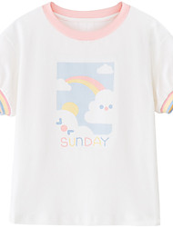 cheap -cicie baby girl children's summer new product a ready-to-deliver children's t-shirt, big children's cotton print children's short sleeve