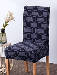 cheap -Chair Cover Geometric / Neutral / Contemporary Printed Polyester Slipcovers