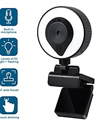 cheap -W20 beauty fill light camera 2k usb webcam live camera auto focus ultra wide-angle camera for daily video calling live webinars