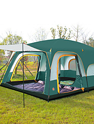 cheap -Shamocamel® 8 person Family Tent Outdoor Waterproof, Well-ventilated, Breathability Double Layered Poled Instant Cabin Camping Tent Two Rooms >3000 mm for Camping / Hiking Polyester, Polyster