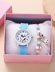 cheap -Kids Quartz Watches Analog Quartz Stylish Cartoon Creative Large Dial / Silicone