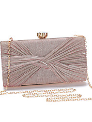 cheap -Women's Bags Polyester Evening Bag Chain Solid Color Glitter Shine Party Wedding 2021 Handbags Chain Bag Blushing Pink Champagne Gold Silver
