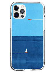 cheap -Nautical Phone Case For Apple iPhone 12 iPhone 11 iPhone 12 Pro Max Unique Design Protective Case Pattern Back Cover TPU