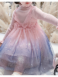 cheap -Princess / Ball Gown High Neck Ankle Length Tulle Junior Bridesmaid Dress with Pleats / Ruffles