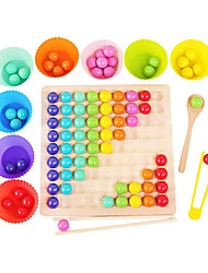 cheap -Rainbow Board Game, Color Wooden Board Bead Game, Montessori Toys for Toddlers, Funny Puzzle Color Sorting Stacking Board Game, Toddler Matching Game, Multiplayer Board Game PK (Spoon)