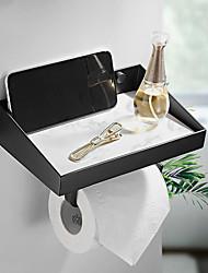 cheap -Brass Partition Black Mobile Phone Shelf Bathroom Marble Bathroom Shelf Storage