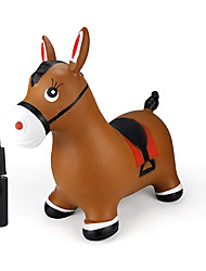 cheap -Inpany Bouncy Horse Hopper- Brown Inflatable Jumping Horse, Ride on Rubber Bouncing Animal Toys for Kids/ Toddlers/ Children/ Boys/ Girls