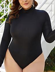 cheap -Women's One Piece Swimsuit Black Plus Size Swimwear Bathing Suits