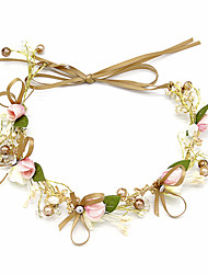 cheap -Wedding Bridal Copper wire Headbands / Headdress / Headpiece with Imitation Pearl / Crystal / Rhinestone / Flower 1 Piece Wedding / Party / Evening Headpiece