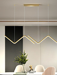 cheap -90 cm LED Pendant Light Metal Island Light Black Gold Painted Finishes Artistic LED 110-120V 220-240V