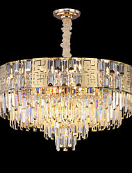 cheap -80 cm Crystal Chandelier LED Pendant Light Gold Luxury Lantern Desgin Stainless Steel Electroplated LED 110-120V 220-240V