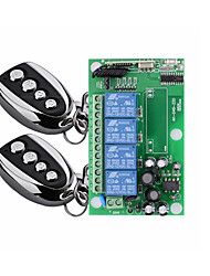 cheap -AC 220V four-way wireless remote control switch/wide voltage 85V-250V/lighting electrical power control board/learning code 10A relay/433MHZ