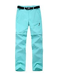 cheap -Women's Hiking Pants Trousers Convertible Pants / Zip Off Pants Solid Color Summer Outdoor Tailored Fit Waterproof Quick Dry Breathable Wear Resistance Nylon Bottoms Army Green Fuchsia Khaki Sky Blue