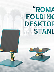 cheap -Phone Holder Stand Mount Desk Cell Phone Foldable Adjustable Stand Phone Desk Stand Adjustable Metal ABS Phone Accessory iPhone 12 11 Pro Xs Xs Max Xr X 8 Samsung Glaxy S21 S20 Note20