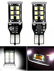 cheap -2pcs Car LED Car Canbus Light Light Bulbs 1200 lm SMD 3528 15 W 6000 k 15 For universal All Models All years